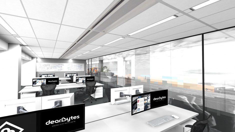 3D ontwerp projectinrichting kantoor