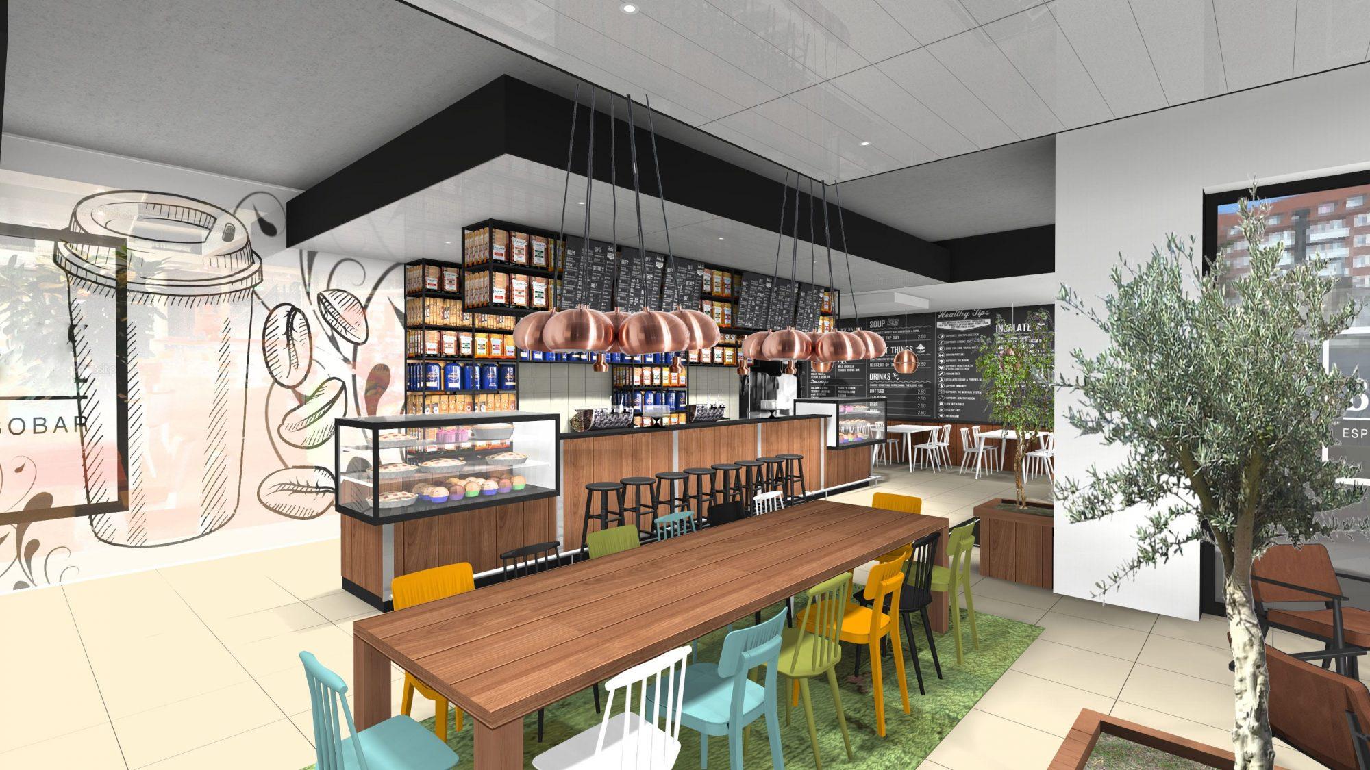 coffee koffie concept ontwerp 3d