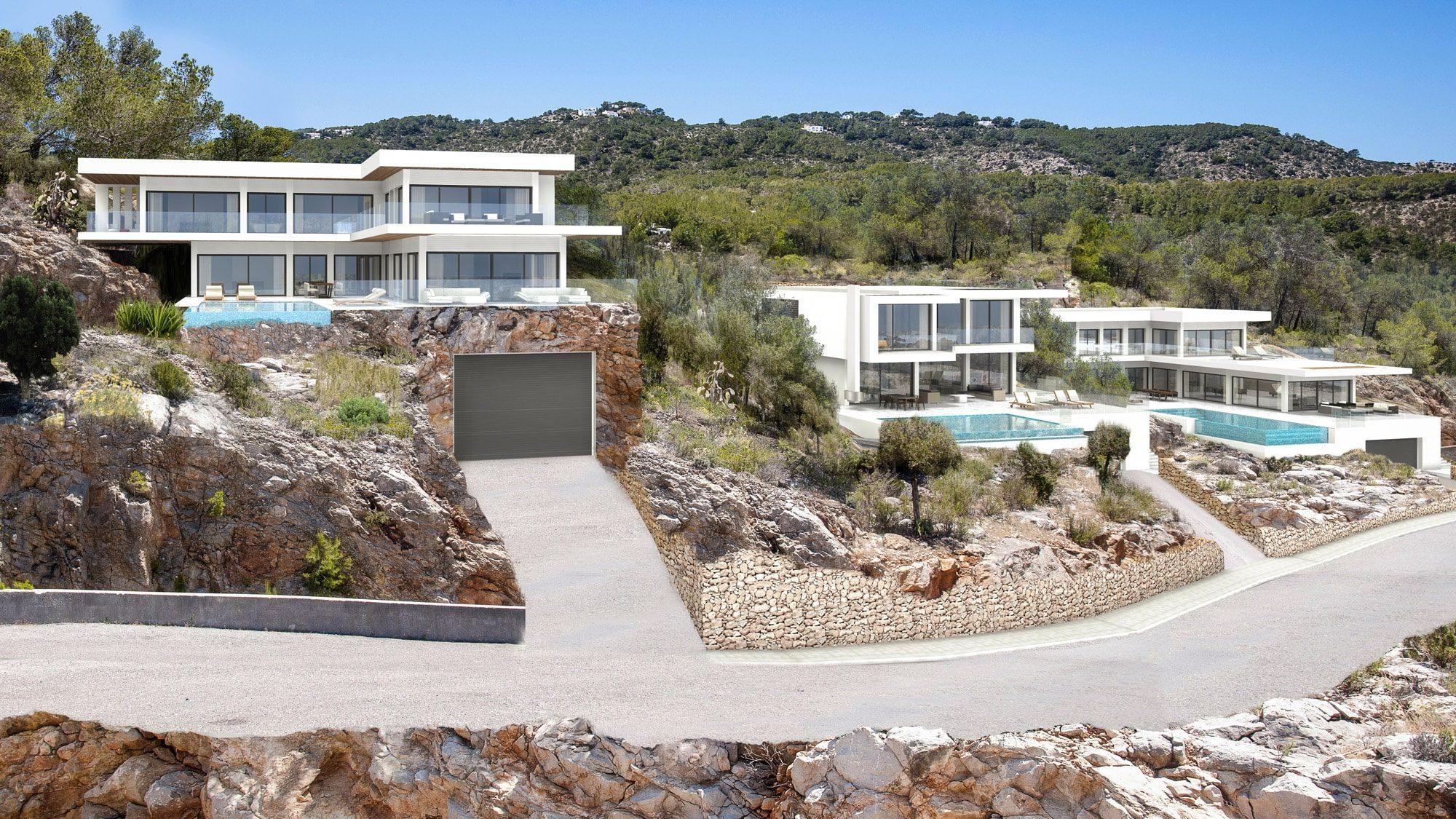 villa 3D ibiza visualisatie