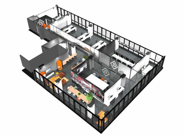 kantoor inrichting ontwerp 3D visualistie