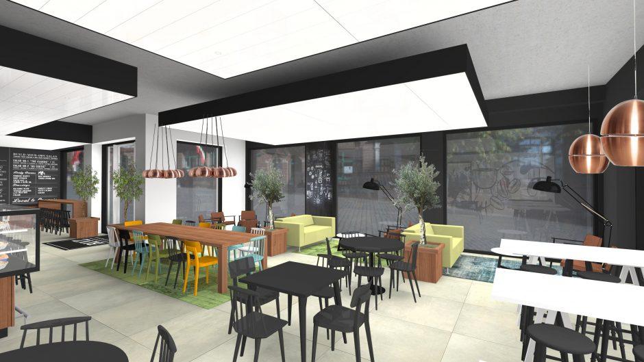 coffee 3D bar koffie artist impresion visualisatie ontwerp