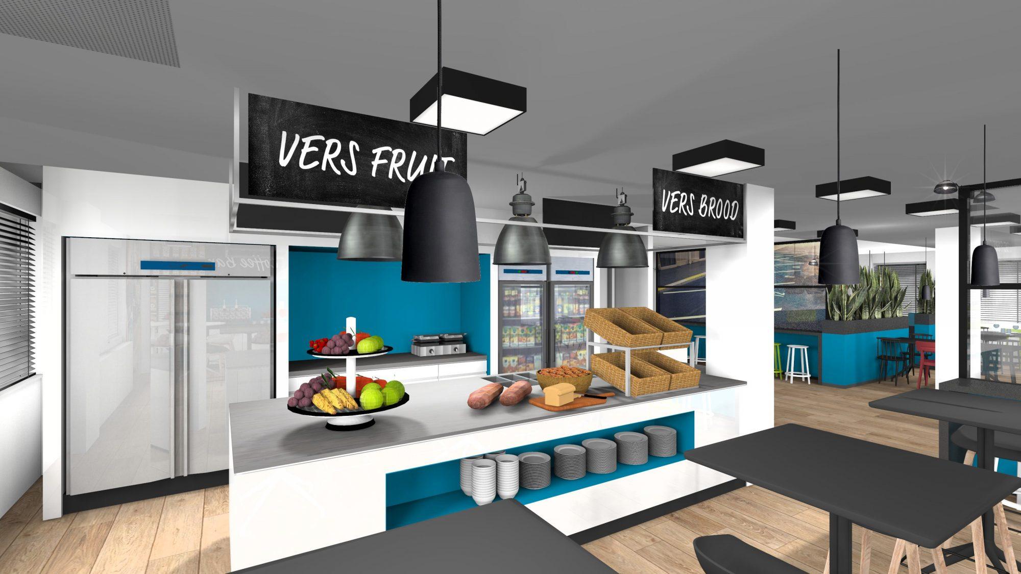 ontwerp bedrijfsrestaurant 3D visualisatie artist impresion