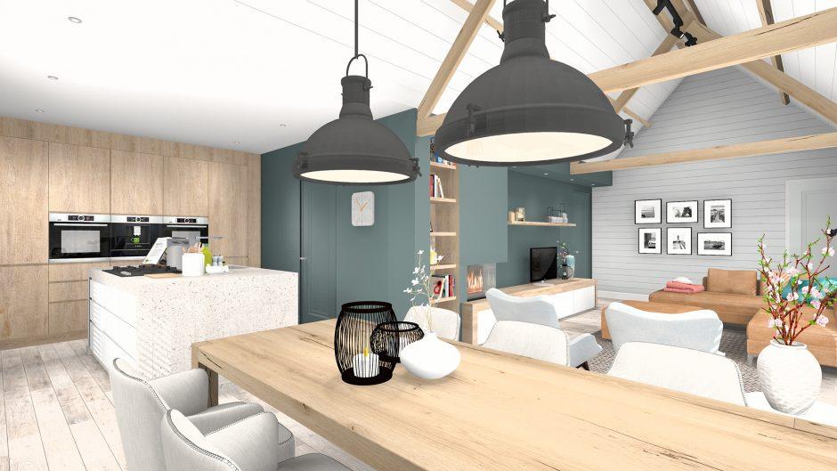 Interieur keuken 3D