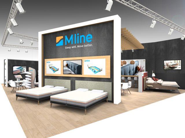 stand m line bedden in brussel meubelbeurs 2017 omtwerp