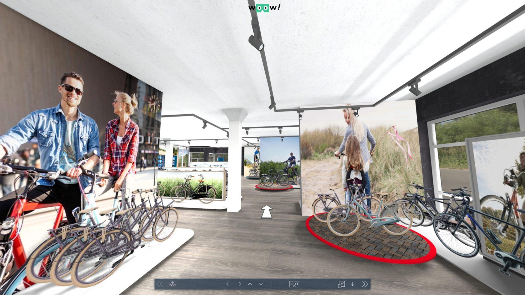 3D winkel fietsen VR