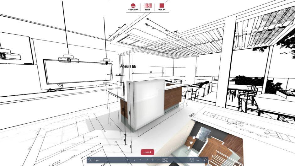VR CAD 3D en 2D 360 ronkkijken