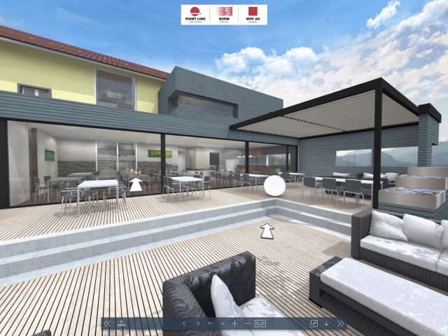 Restaurant 3D en VR architectuur visualisatie en virtual reality