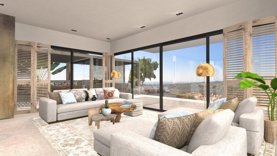 interieur 3d ontwerp villa spain marbella new build design interior presentation