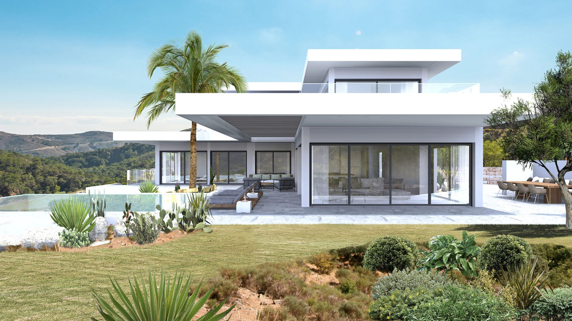 Monte Mayor villa 3D design new spain build arcitectuur visualisation
