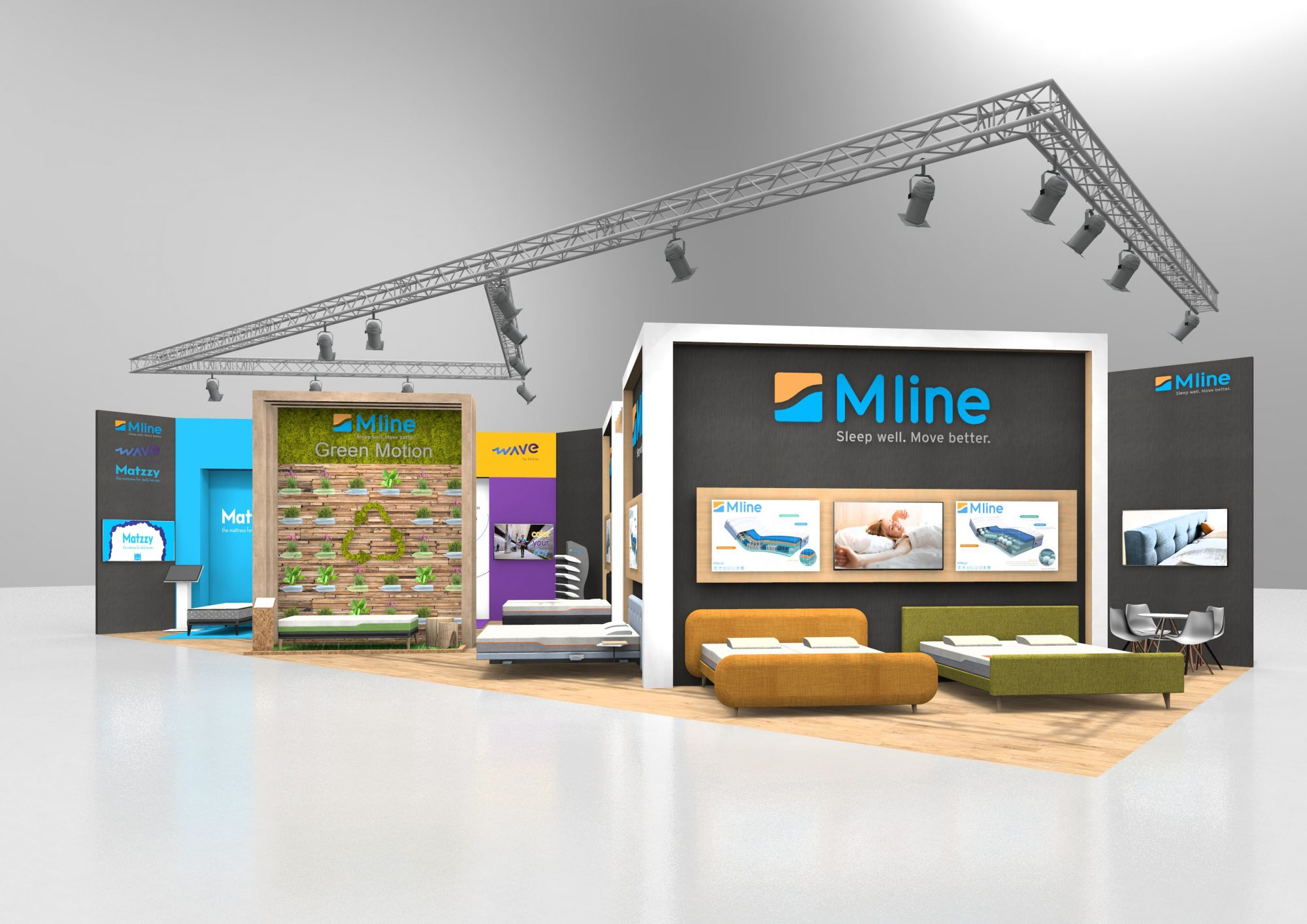 m line stand ontwerp visualisatie