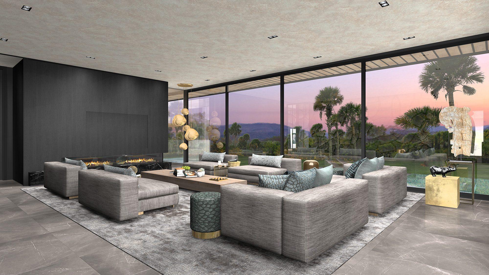 Villa Soho interieur 3D